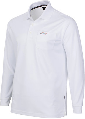 Greg Norman for Tasso Elba Men's 5 Iron Long-Sleeve Performance Polo $59.50 thestylecure.com