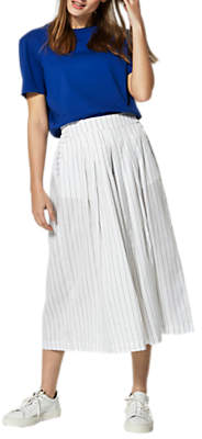Selected Raika Cropped Wide Leg Trousers, Bright White