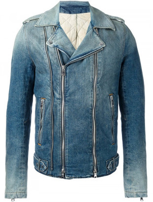 Balmain biker jacket $2,565 thestylecure.com