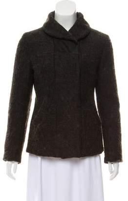 Hache Wool-Blend Short Coat