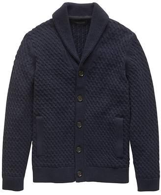 Banana Republic Cotton Cable-Knit Cardigan Sweater