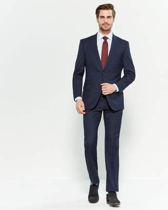 English Laundry Two-Piece Navy & Black Check Suit