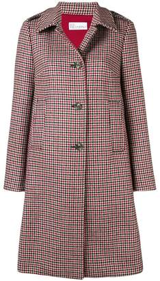 RED Valentino single-breasted check coat