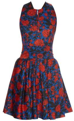 Sophie Theallet Jeanne Floral Print Dress - Womens - Blue Multi