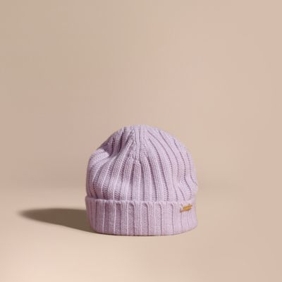 Burberry Burberry Ribbed Knit Wool Cashmere Beanie