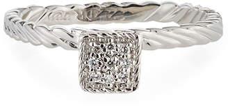 Alor 18k White Gold Diamond Square Ring Size 7