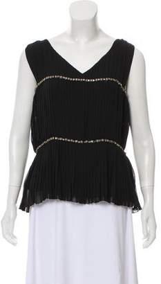 Alberta Ferretti Embellished Sleeveless Blouse w/ Tags