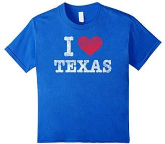 Distressed Retro I Love Texas T-Shirt Souvenir Gift