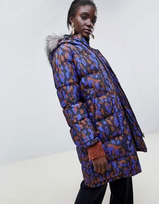 Selected Fur Hood Parker Coat
