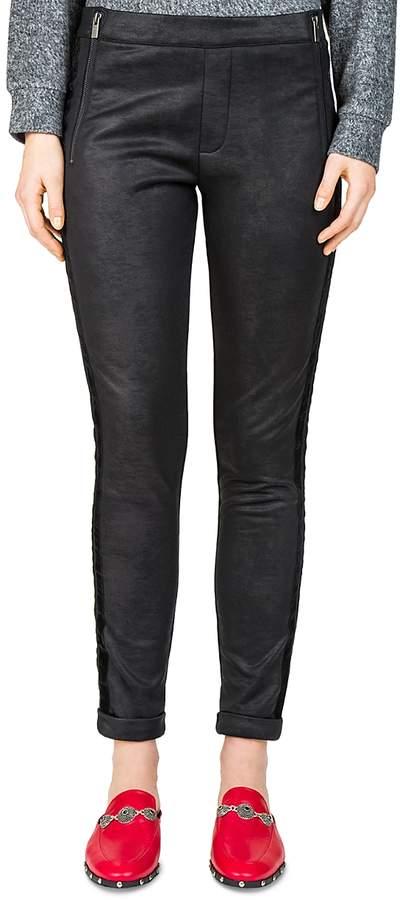 Leather-Effect Sweatpants