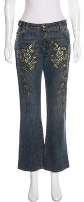 Just Cavalli Embroidered Mid-Rise Jeans