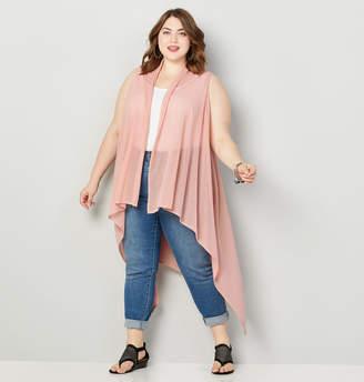 Avenue Pink Long Vest