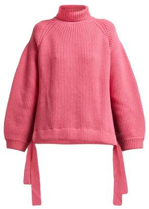 Ellery Wallerian Oversized Wool Blend Roll Neck Sweater - Womens - Pink