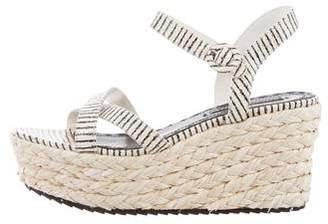 Alice + Olivia Embossed Wedge Sandals