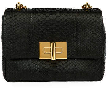 Tom Ford TOM FORD Natalia Large Santiago Python Shoulder Bag, Black