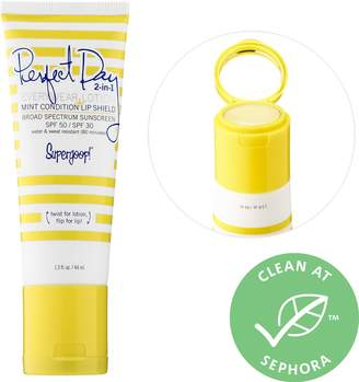 Supergoop! Perfect Day 2-in-1 Everywear Lotion Broad Spectrum SPF 50 + Mint Condition Lip Shield SPF 30