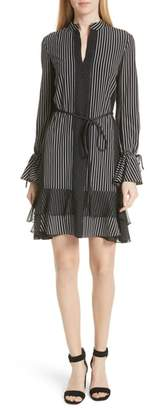 Derek Lam 10 Crosby Pinstripe Silk Shift Dress