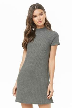 Forever 21 Brushed Mock Neck Mini Dress