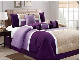 Luxlen Scribner 7 Piece Comforter Set, Cal King Bedding
