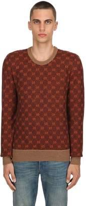 Gucci Gg Supreme Wool Blend Knit Sweater