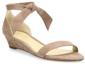 Alexandre BirmanAlexandre Birman Clarita Suede Ankle-Tie Demi-Wedge Sandals