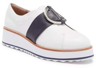 Bernardo Susan Leather Oxford Platform Wedge Slip-On Sneaker