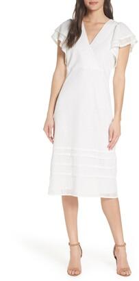 Chelsea28 Eyelet Flutter Sleeve Dress