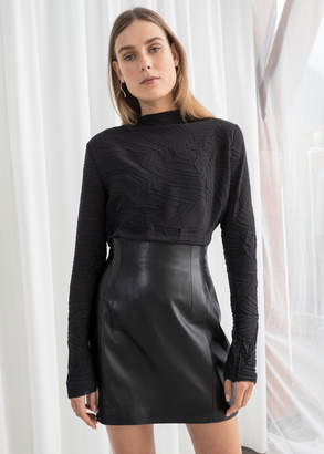 And other stories High Waisted Leather Skirt