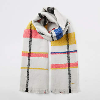 River Island Cream color pop check scarf