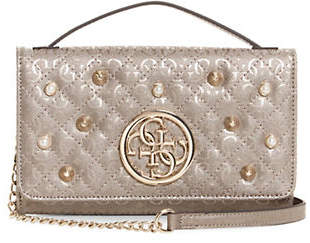 GUESS Gioia Faux Pearl-Embellished Crossbody Wallet