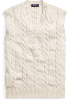 Ralph Lauren Cable Cotton-Cashmere Vest