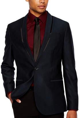 Jf J.Ferrar Formal Stretch Teal Slim Fit Sport Coat