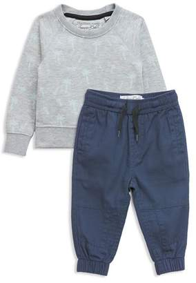 Sovereign Code Boys' Palm Print Sweatshirt & Jogger Pants Set - Baby