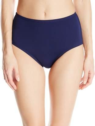 bf36e5d3cbdd6 Anne Cole Women's Color Blast Solids Tummy Control High Waist Bikini Bottom