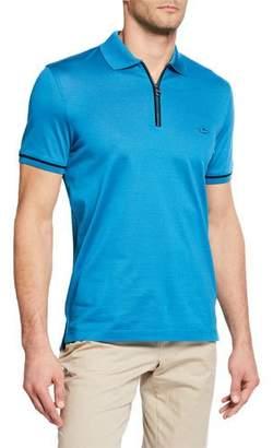 Salvatore Ferragamo Men's Half-Zip Polo Shirt