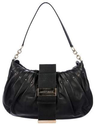 Versace Pleated Leather Hobo