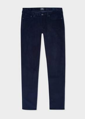 Paul Smith Men's Tapered-Fit Navy Corduroy Trousers