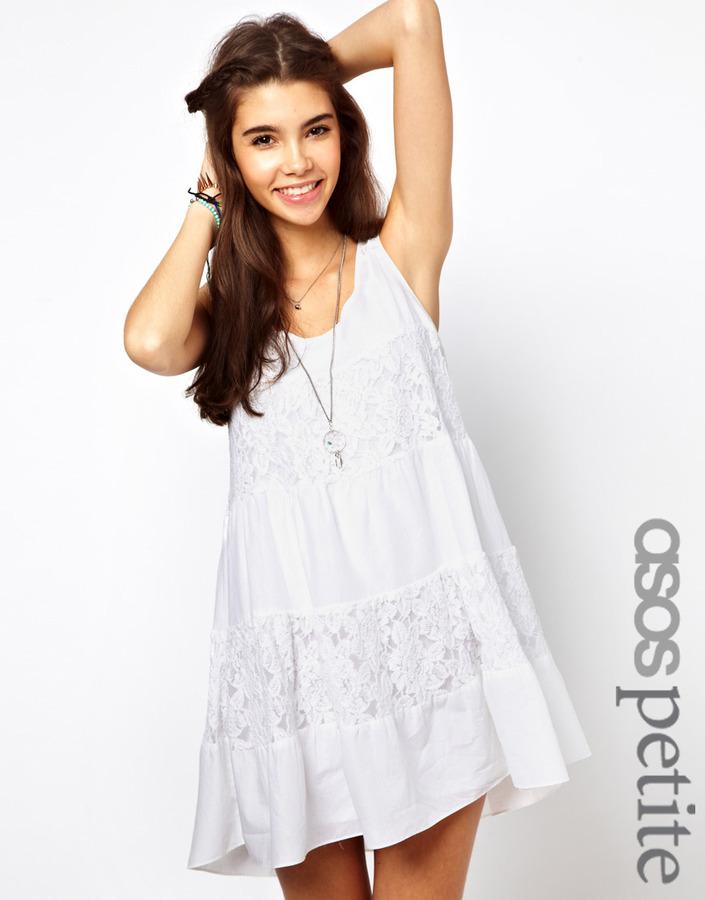 Asos Exclusive Lace Insert Trapeze Dress