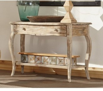 Alaterre Rustic Reclaimed Media/Console Table, Driftwood