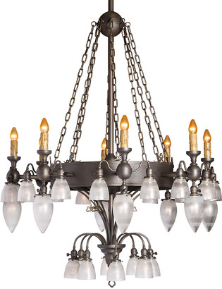 Rejuvenation Monumental 40-Light Gothic Revival Gas/Electric Chandelier