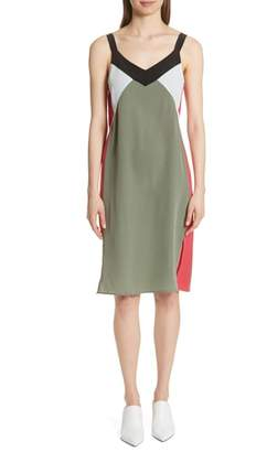 Equipment Robbi Colorblock Silk Slipdress
