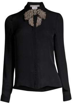Alice + Olivia Willa Embellished Bow Blouse
