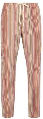 Paul Smith Striped Cotton Pyjama Trousers - Mens - Multi
