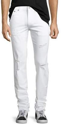 True Religion Rocco Worn Cruiser Distressed Skinny Jeans