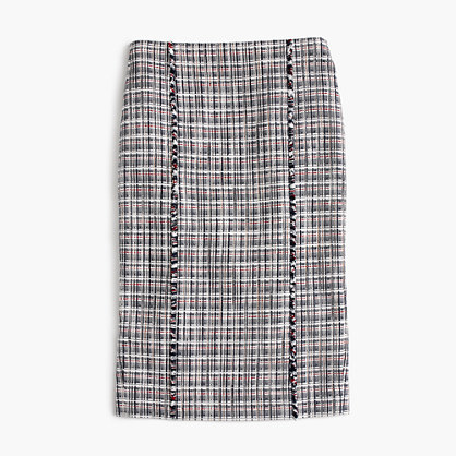J.Crew Petite pencil skirt in lightweight tweed