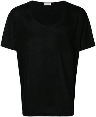 Saint Laurent U neck T-shirt