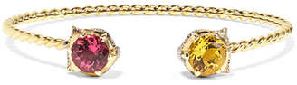 Gucci 18-karat Gold Multi-stone Cuff - medium
