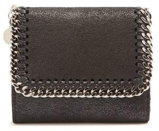 Stella McCartney Falabella Faux Suede Wallet - Womens - Black
