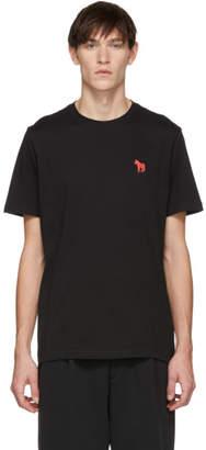 Paul Smith Black Embroidered Zebra T-Shirt