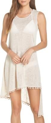 Echo Pompom Cover-Up Dress